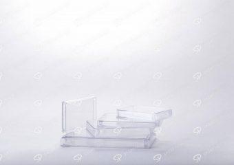 ظرف زعفران کریستالی طرح مستطیل کف کریستال