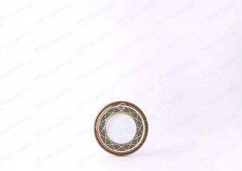 ظرف فلزی زعفران دایره کف سفید