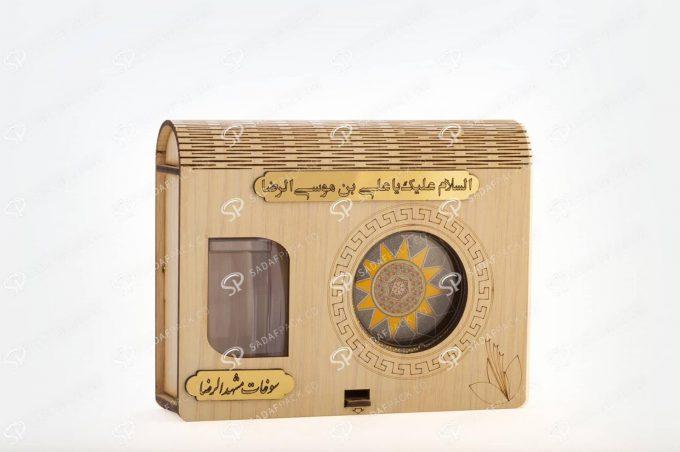 ##tt##- باکس چوبی کادویی آذین متوسط و 5 گرم فلزی  36566