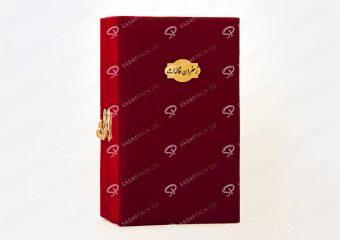 باکس بسته بندی چوبی و مخملی زعفران