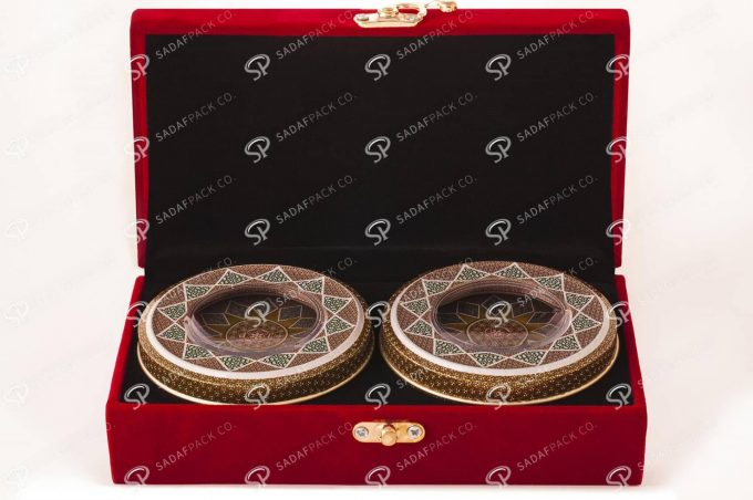 ##tt##- باکس مخملی دو قلو 5 گرم فلزی  36556