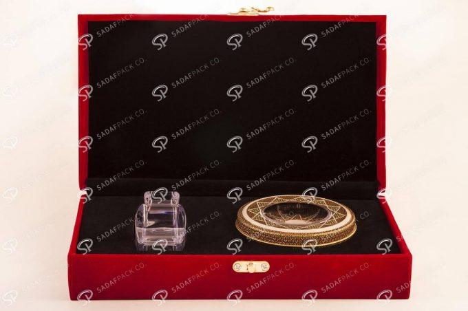 ##tt##- باکس مخمل کادویی (آذین متوسط و 5 گرم فلزی)  36554