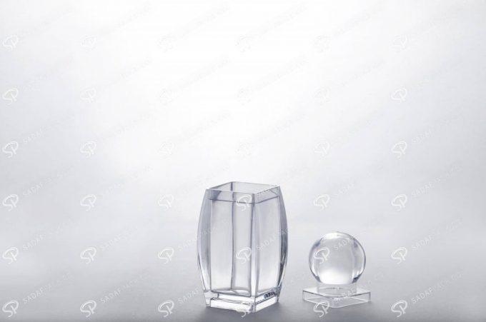 ##tt##- ظرف زعفران کریستالی طرح صدف - کوچک  37446