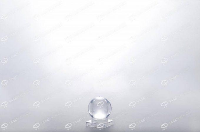 ##tt##- ظرف زعفران کریستالی طرح صدف - کوچک  37447
