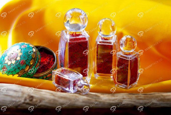 ##tt##- ظرف زعفران کریستالی طرح صدف - کوچک  37451