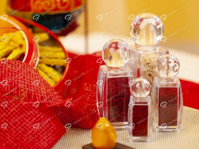 ##tt##- ظرف زعفران کریستالی طرح صدف - کوچک  37452