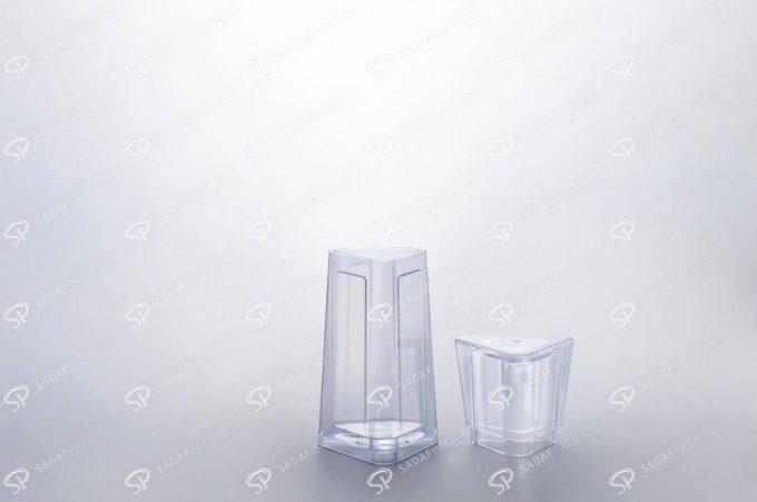 ##tt##- ظرف زعفران کریستالی طرح الماس - کوچک  37235