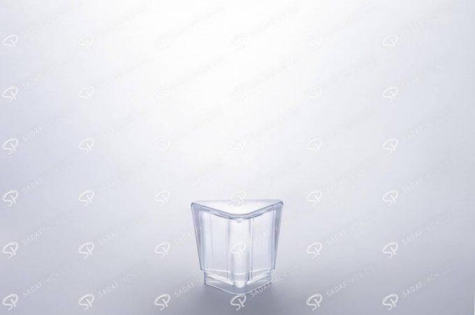 ##tt##- ظرف زعفران کریستالی طرح الماس - متوسط  37245