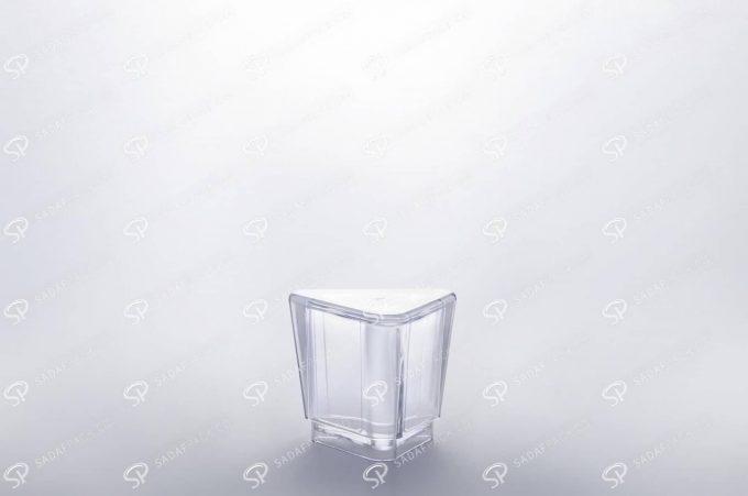 ##tt##- ظرف زعفران کریستالی طرح الماس - بزرگ  37217