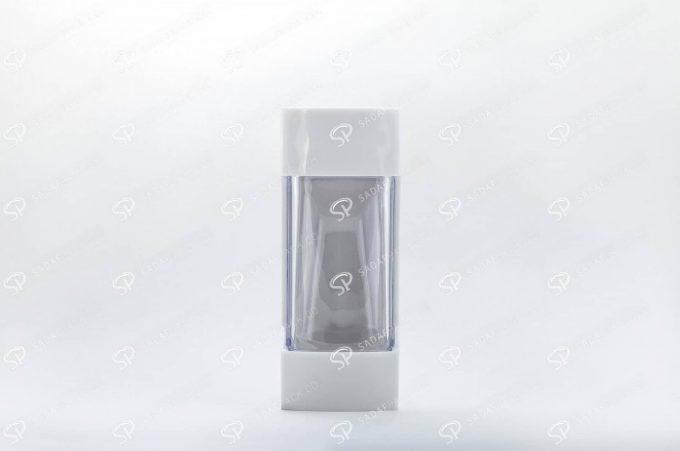 ##tt##- ظرف زعفران پلاستیکی مدل نگین - سفید  37198