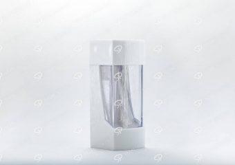 ##tt##- ظرف زعفران پلاستیکی مدل نگین - سفید  37199