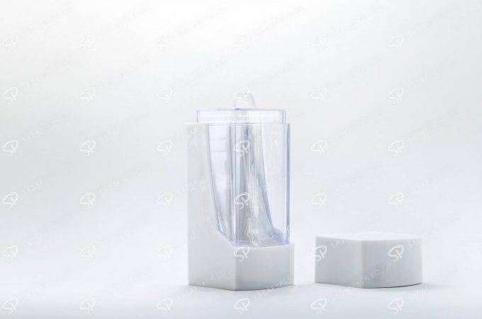##tt##- ظرف زعفران پلاستیکی مدل نگین - سفید  37200