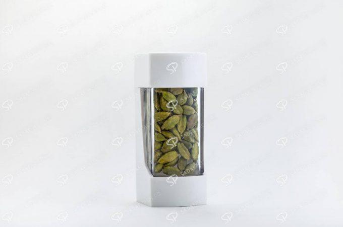 ##tt##- ظرف زعفران پلاستیکی مدل نگین - سفید  37202