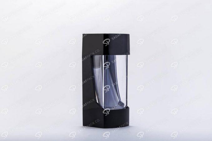 ##tt##- ظرف زعفران پلاستیکی مدل نگین - مشکی  37191