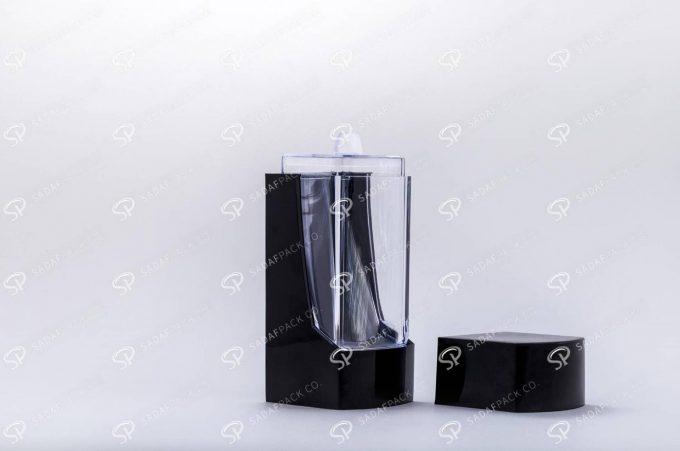 ##tt##- ظرف زعفران پلاستیکی مدل نگین - مشکی  37192