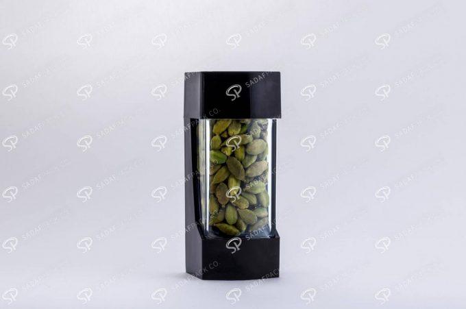 ##tt##- ظرف زعفران پلاستیکی مدل نگین - مشکی  37194