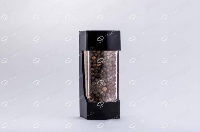 ##tt##- ظرف زعفران پلاستیکی مدل نگین - مشکی  37195