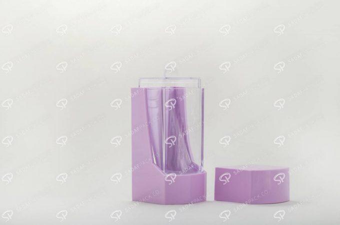 ##tt##- ظرف زعفران پلاستیکی مدل نگین - سوسنی  37208