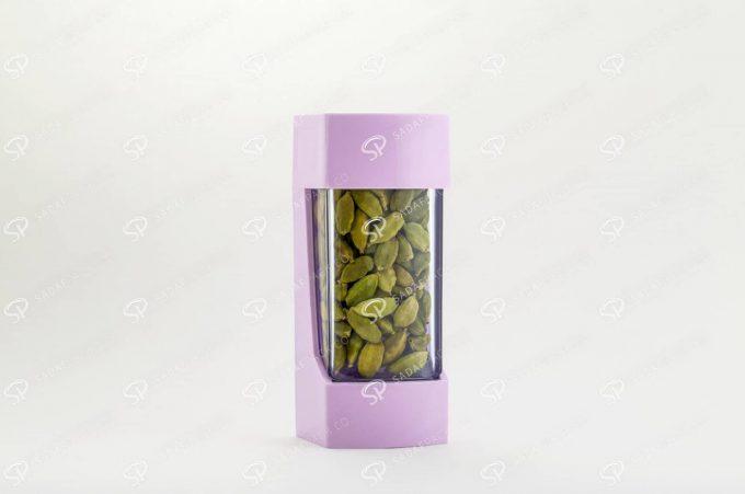 ##tt##- ظرف زعفران پلاستیکی مدل نگین - سوسنی  37210