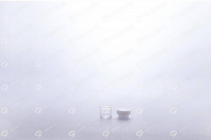 ##tt##- ظرف زعفران کریستالی طرح پودری کوتاه - شیری  37691