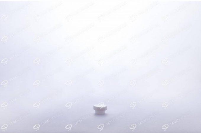 ##tt##- ظرف زعفران کریستالی طرح پودری بلند - شیری  37711