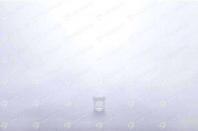 ##tt##- ظرف زعفران کریستالی طرح پودری کوتاه - سفید  37686