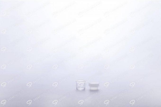 ##tt##- ظرف زعفران کریستالی طرح پودری کوتاه - سفید  37687
