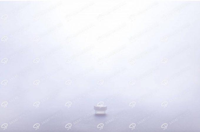 ##tt##- ظرف زعفران کریستالی طرح پودری کوتاه - سفید  37688