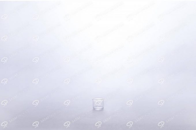 ##tt##- ظرف زعفران کریستالی طرح پودری کوتاه - سفید  37689