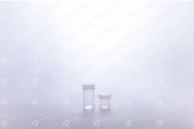 ##tt##- ظرف زعفران کریستالی طرح پودری کوتاه - سفید  37692