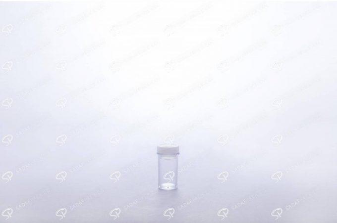 ##tt##- ظرف زعفران کریستالی طرح پودری بلند - سفید  37702