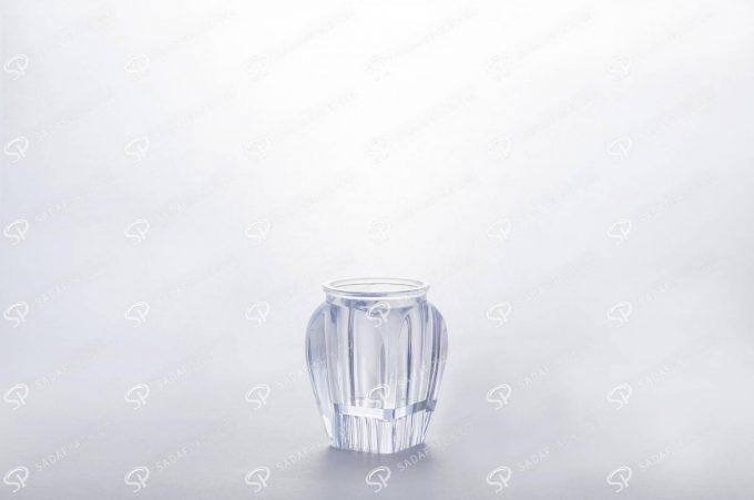##tt##- ظرف زعفران کریستالی طرح گوهر کف بالا - کوچک  37617