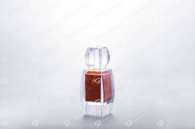 ##tt##- ظرف زعفران کریستالی طرح آذین کف بالا - کوچک  37411