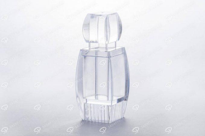 ظرف زعفران کریستالی طرح آذین کف بالا بزرگ | شرکت تولید ظرف زعفران صدف پک