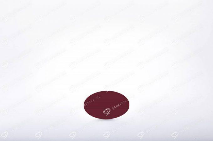 ##tt##- ظرف زعفران بیضی کف سفید سایز 2  37763