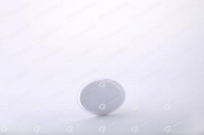 ##tt##- ظرف زعفران بیضی کف سفید سایز 3  37766