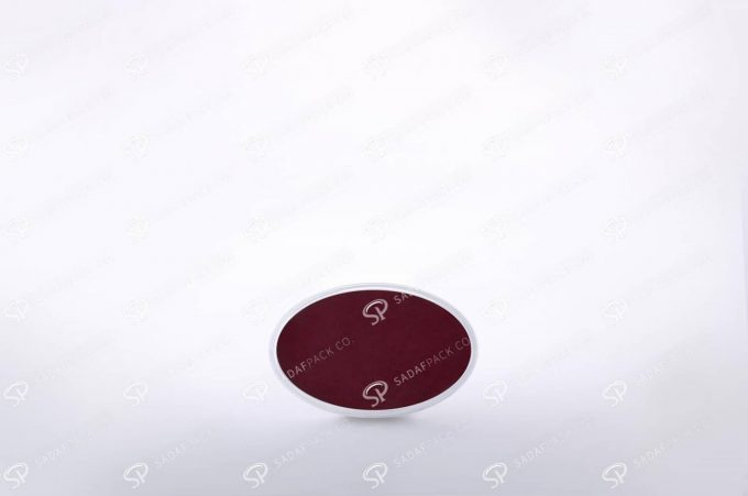 ##tt##- ظرف زعفران بیضی کف سفید سایز 3  37774