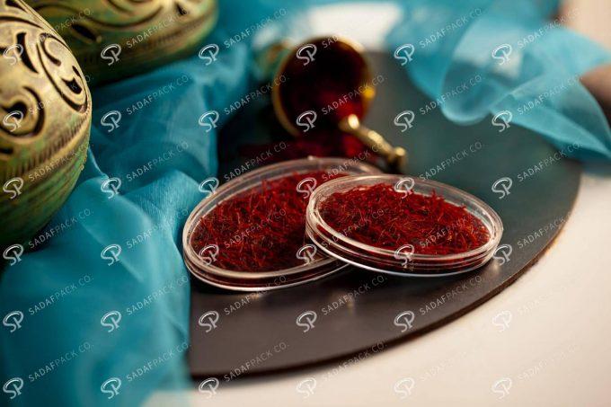 ##tt##- ظرف زعفران بیضی کریستالی سایز 3  37811