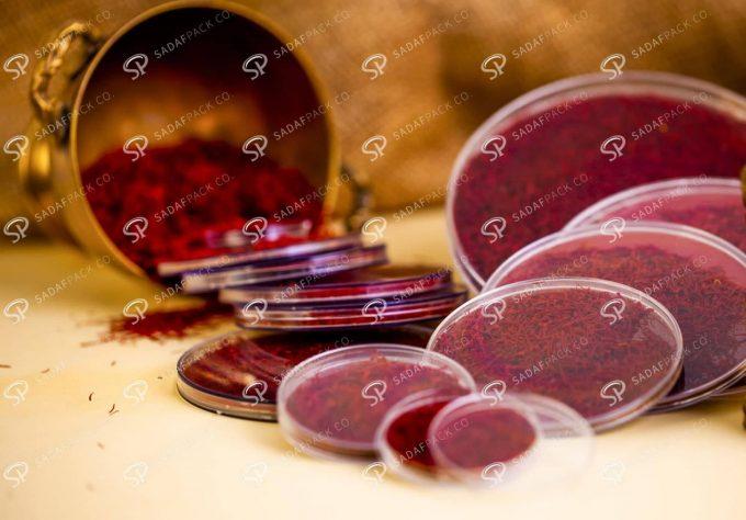 ##tt##- ظرف زعفران گرد صدف پک - 8 نازک کریستال 38408