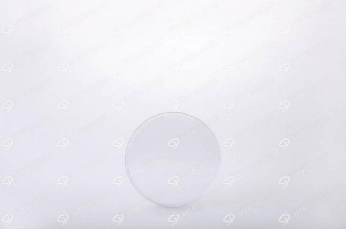 ##tt##- ظرف زعفران گرد - 8 محدب کریستال  37634