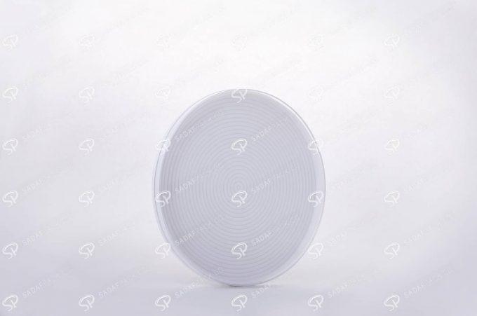 ##tt##- ظرف زعفران گرد - 11 متوسط کف سفید  38344