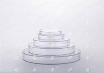ظرف کریستالی طرح دایره کف کریستال عمیق