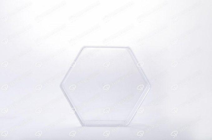 ظرف کریستالی خشکبار شش ضلعی   صدف پک