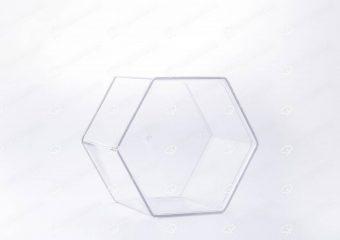 ##tt##- ظرف کریستالی شش ضلعی بلند  37936