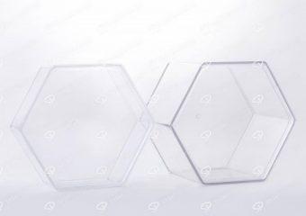 ظرف کریستالی طرح شش ضلعی