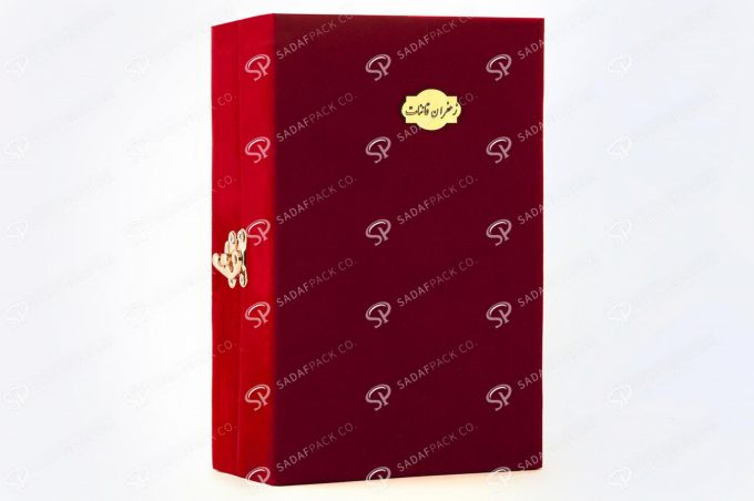 ##tt##- باکس مخملی گوهر - لارج 38732   جعبه بسته بندی زعفران