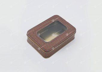 ظرف فلزی چهارگوش زعفران