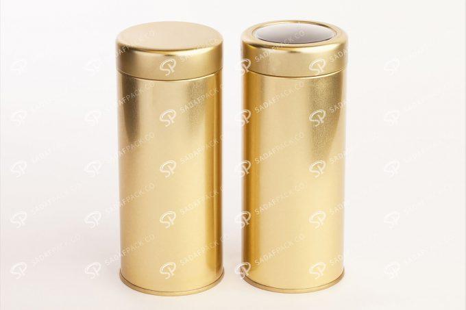 ##tt##- قوطی فلزی خشکبار طلایی 66 38677