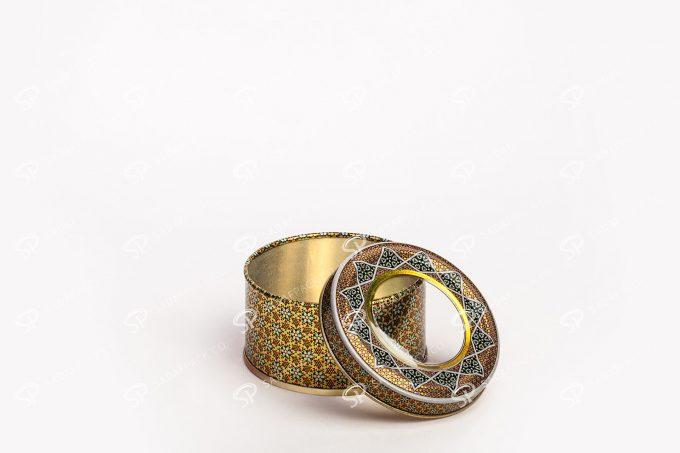 ##tt##- قوطی خاتم فلزی با درب تلق دار | صدف پک | 70 38705