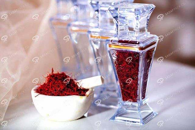 نگهداری زعفران در ظروف پلی کریستال   شرکت صدف پک